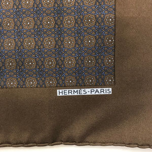 Hermes Accessories - ❤️SOLD❤️ Hermes Silk Pocket Square Handkerchief